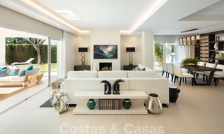 Majestic, completely renovated trendy Spanish villa for sale, frontline golf in Nueva Andalucia, Marbella 21357