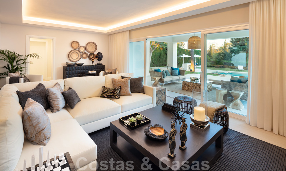 Majestic, completely renovated trendy Spanish villa for sale, frontline golf in Nueva Andalucia, Marbella 21362