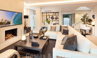 Majestic, completely renovated trendy Spanish villa for sale, frontline golf in Nueva Andalucia, Marbella 21363