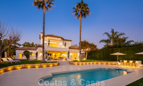 Majestic, completely renovated trendy Spanish villa for sale, frontline golf in Nueva Andalucia, Marbella 21364