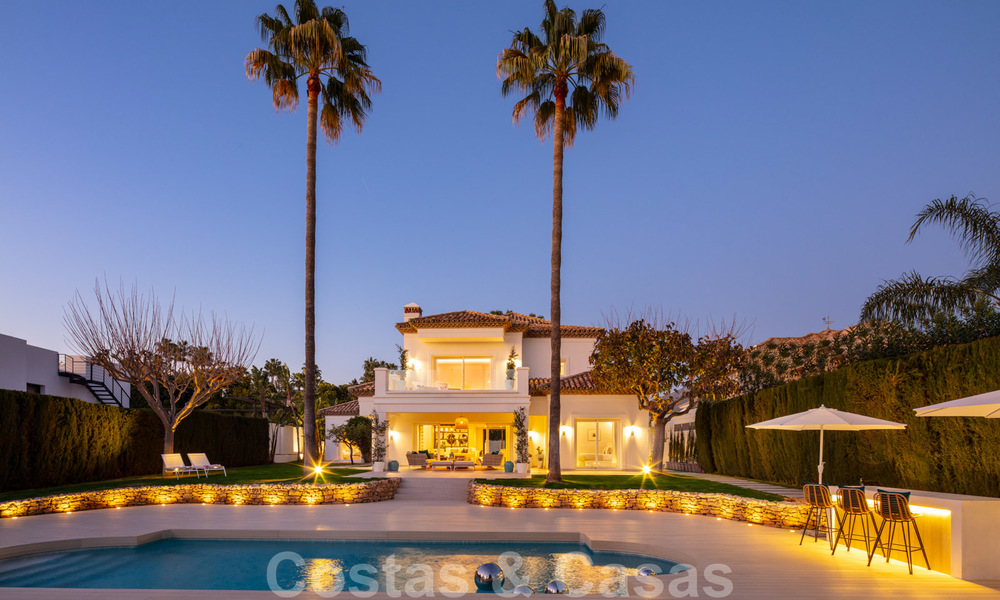 Majestic, completely renovated trendy Spanish villa for sale, frontline golf in Nueva Andalucia, Marbella 21365