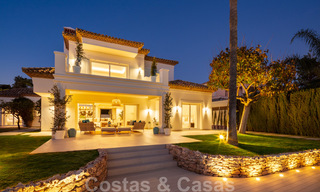 Majestic, completely renovated trendy Spanish villa for sale, frontline golf in Nueva Andalucia, Marbella 21366