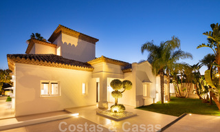 Majestic, completely renovated trendy Spanish villa for sale, frontline golf in Nueva Andalucia, Marbella 21367