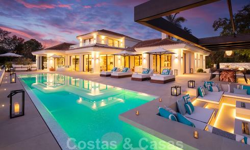 Exquisite modern-mediterranean luxury villa for sale, frontline golf in Nueva Andalucia, Marbella 21533