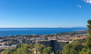 Large, exceptional building plot with stunning sea views for sale in an exclusive residential area of Marbella 21825