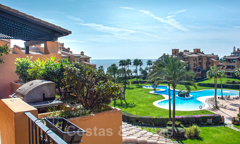 Stunning frontline beach luxury apartment for sale in an exclusive complex on the New Golden Mile, Estepona 21817