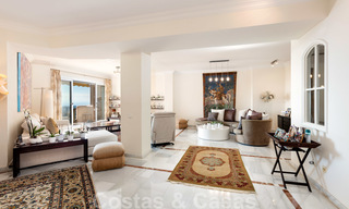 Impressive south facing penthouse with stunning sea views for sale in the Golf Valley of Nueva Andalucia, Marbella 22090