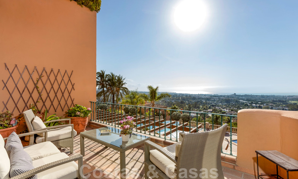Impressive south facing penthouse with stunning sea views for sale in the Golf Valley of Nueva Andalucia, Marbella 22093