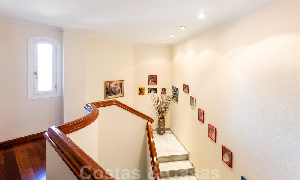 Impressive south facing penthouse with stunning sea views for sale in the Golf Valley of Nueva Andalucia, Marbella 22105