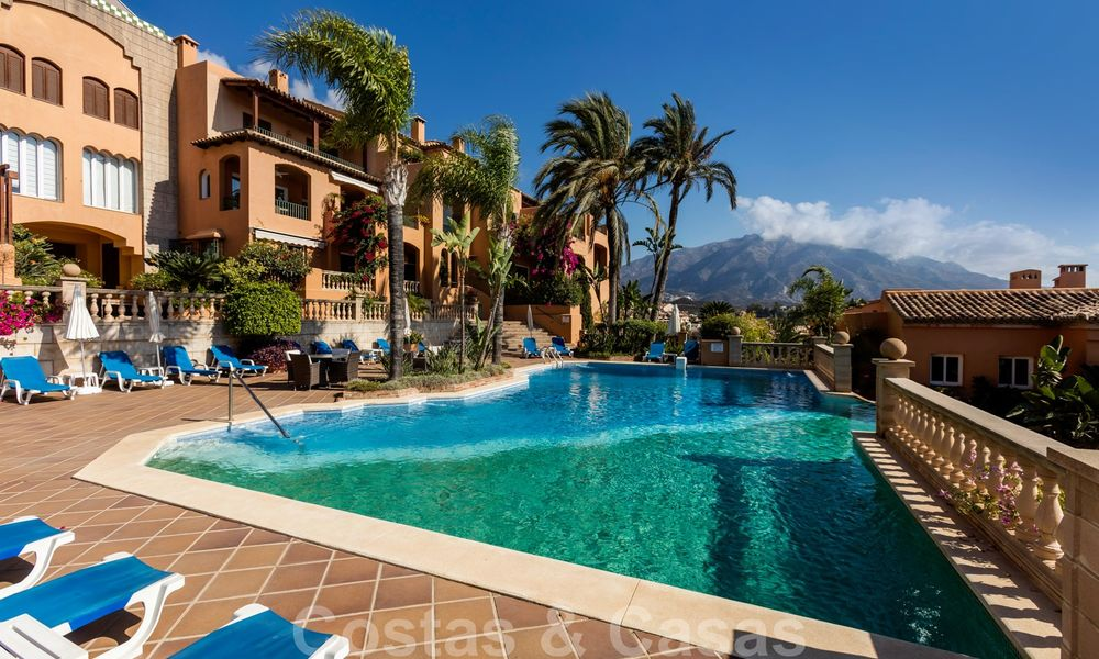 Impressive south facing penthouse with stunning sea views for sale in the Golf Valley of Nueva Andalucia, Marbella 22109