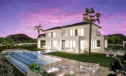 Magnificent new contemporary villa with sea views for sale next to a prestigious golf resort in Benahavis - Marbella 22080