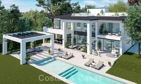Three exclusive contemporary luxury villas for sale, walking distance to the beach, amenities, San Pedro - Puerto Banus, Marbella 22285