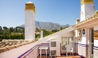 Cosy penthouse with sea views for sale, walking distance to amenities and beach, Golden Mile, Marbella 22324