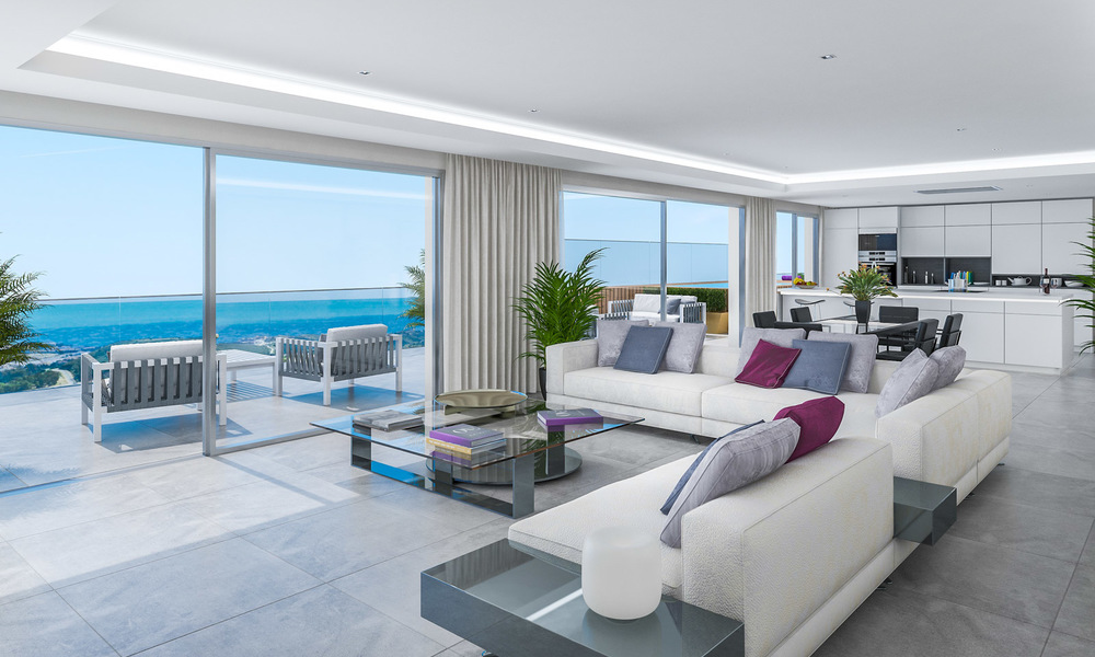 Modern apartments in exclusive boutique resort with Spa, at the golf, with magnificent sea views, La Cala de Mijas - Costa del Sol 23245