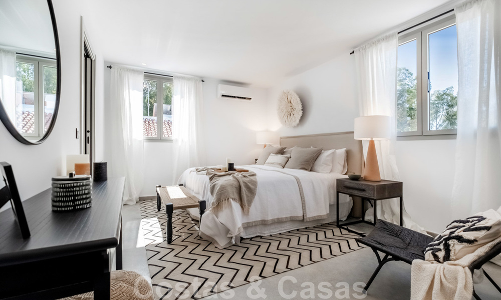 Beautifully renovated Ibiza style semi-detached villa for sale, walking distance to the beach and centre of San Pedro - Marbella 23358