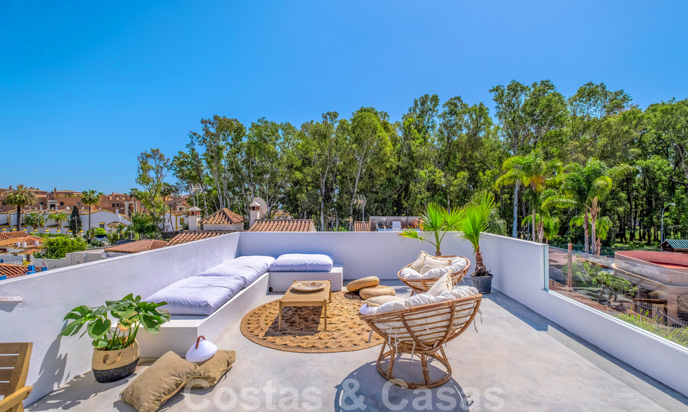 Beautifully renovated Ibiza style semi-detached villa for sale, walking distance to the beach and centre of San Pedro - Marbella 23360