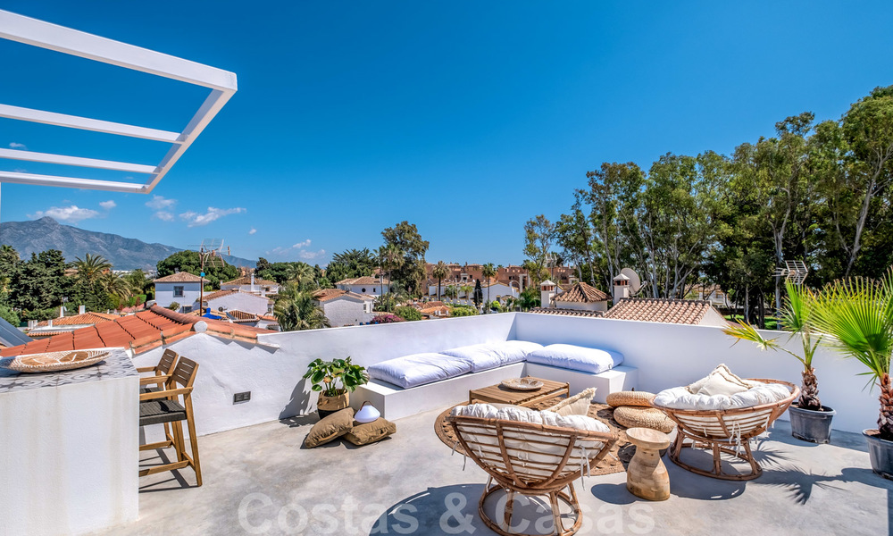 Beautifully renovated Ibiza style semi-detached villa for sale, walking distance to the beach and centre of San Pedro - Marbella 23362