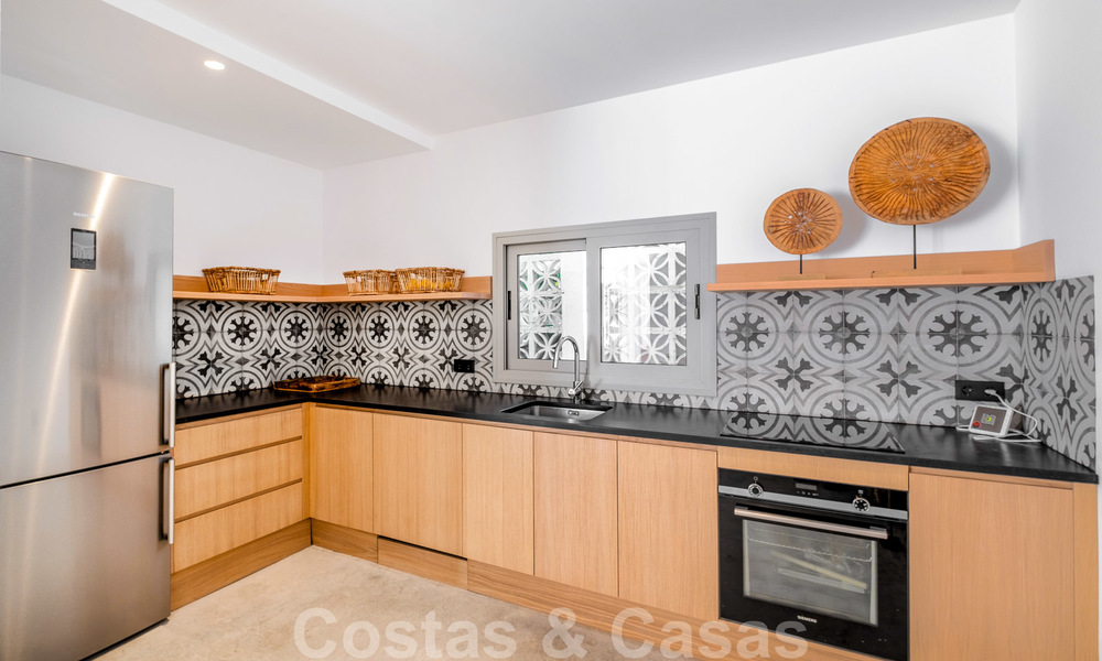 Beautifully renovated Ibiza style semi-detached villa for sale, walking distance to the beach and centre of San Pedro - Marbella 23369