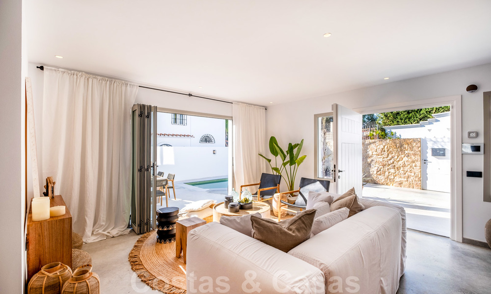 Beautifully renovated Ibiza style semi-detached villa for sale, walking distance to the beach and centre of San Pedro - Marbella 23371