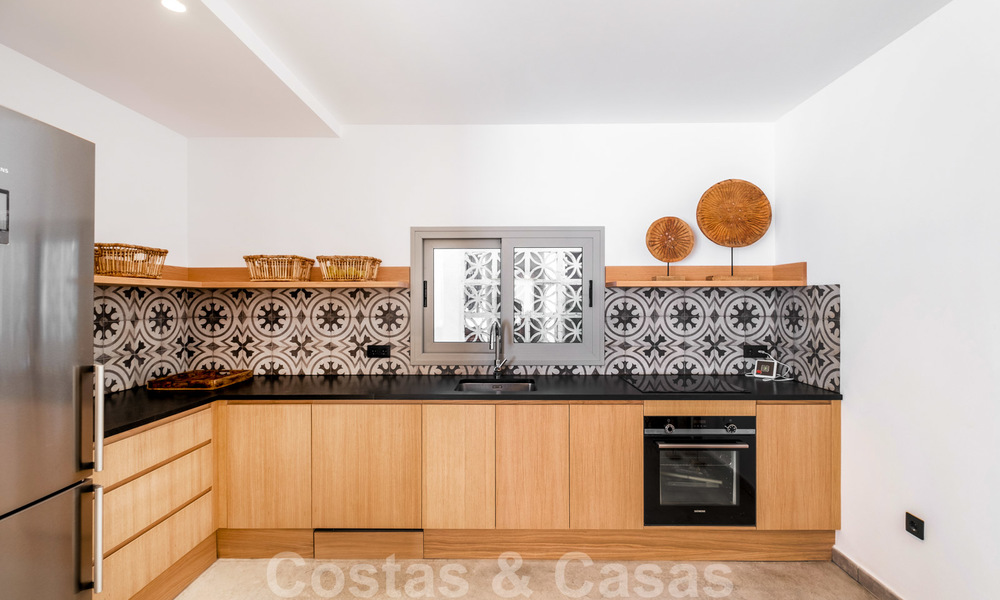 Beautifully renovated Ibiza style semi-detached villa for sale, walking distance to the beach and centre of San Pedro - Marbella 23373