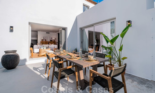 Beautifully renovated Ibiza style semi-detached villa for sale, walking distance to the beach and centre of San Pedro - Marbella 23375