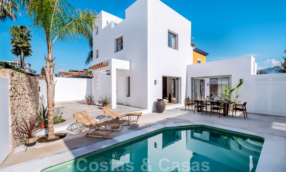 Beautifully renovated Ibiza style semi-detached villa for sale, walking distance to the beach and centre of San Pedro - Marbella 23376