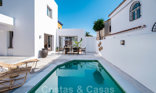 Beautifully renovated Ibiza style semi-detached villa for sale, walking distance to the beach and centre of San Pedro - Marbella 23377