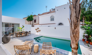 Beautifully renovated Ibiza style semi-detached villa for sale, walking distance to the beach and centre of San Pedro - Marbella 23378