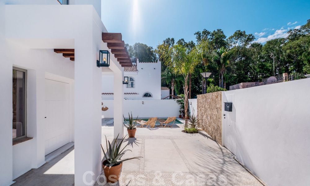 Beautifully renovated Ibiza style semi-detached villa for sale, walking distance to the beach and centre of San Pedro - Marbella 23379