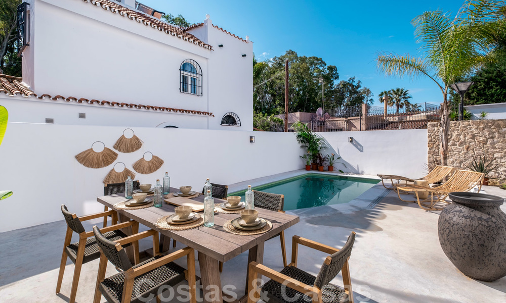 Beautifully renovated Ibiza style semi-detached villa for sale, walking distance to the beach and centre of San Pedro - Marbella 23380