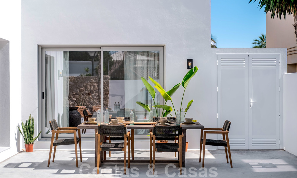 Beautifully renovated Ibiza style semi-detached villa for sale, walking distance to the beach and centre of San Pedro - Marbella 23382