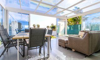 First line beach villa for sale with stunning sea view on the New Golden Mile, between Marbella and Estepona 23470