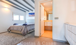 First line beach villa for sale with stunning sea view on the New Golden Mile, between Marbella and Estepona 23473