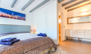 First line beach villa for sale with stunning sea view on the New Golden Mile, between Marbella and Estepona 23475