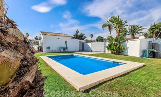 First line beach villa for sale with stunning sea view on the New Golden Mile, between Marbella and Estepona 23479