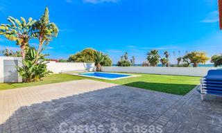First line beach villa for sale with stunning sea view on the New Golden Mile, between Marbella and Estepona 23480