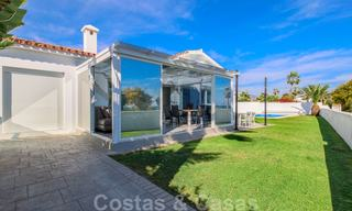First line beach villa for sale with stunning sea view on the New Golden Mile, between Marbella and Estepona 23481