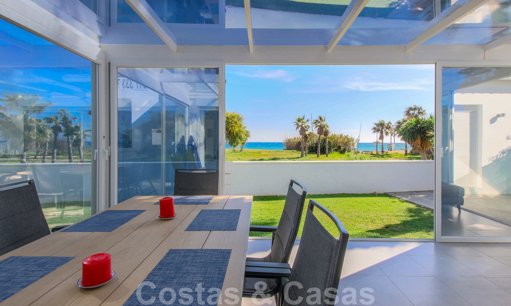First line beach villa for sale with stunning sea view on the New Golden Mile, between Marbella and Estepona 23482