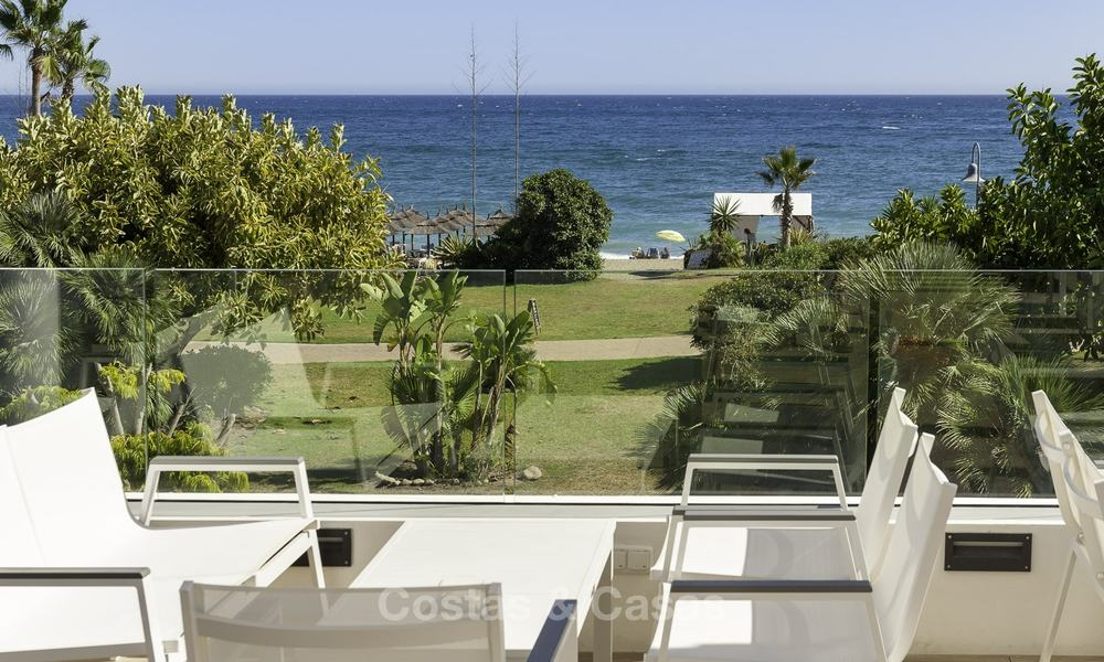 First line beach villa for sale with stunning sea view on the New Golden Mile, between Marbella and Estepona 23488