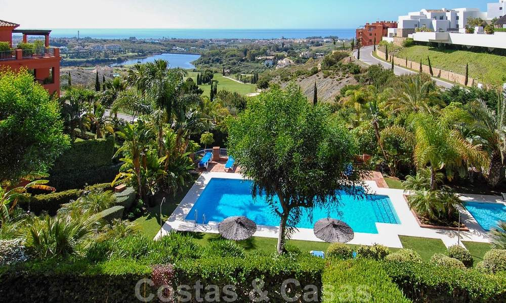 Luxury apartments for sale in Royal Flamingos with stunning views over the golf and sea in Marbella - Benahavis 23583