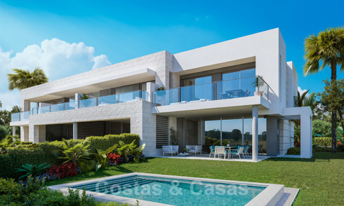 Modern luxury houses for sale in a gated complex, close to the golf course and the centre of San Pedro in Marbella 23629