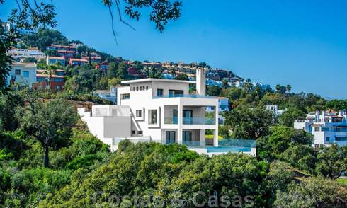 Modern villa with beautiful mountain and sea views for sale in the hills of Eastern Marbella 23640
