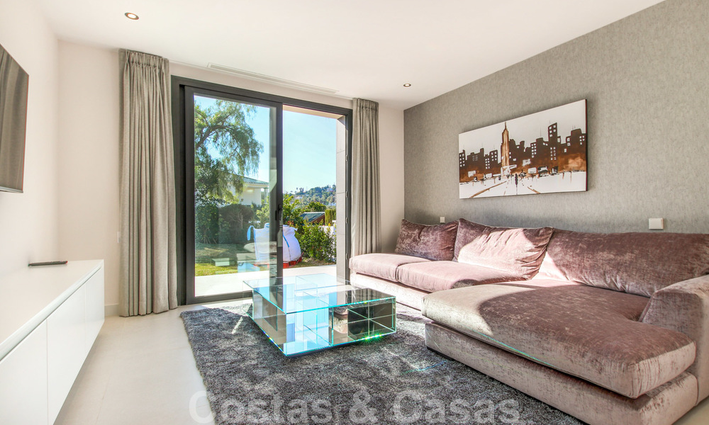 Ready to move into new modern luxury villa in gated and secured residential area for sale in Nueva Andalucia, Marbella. Open to reasonable offers! 23649