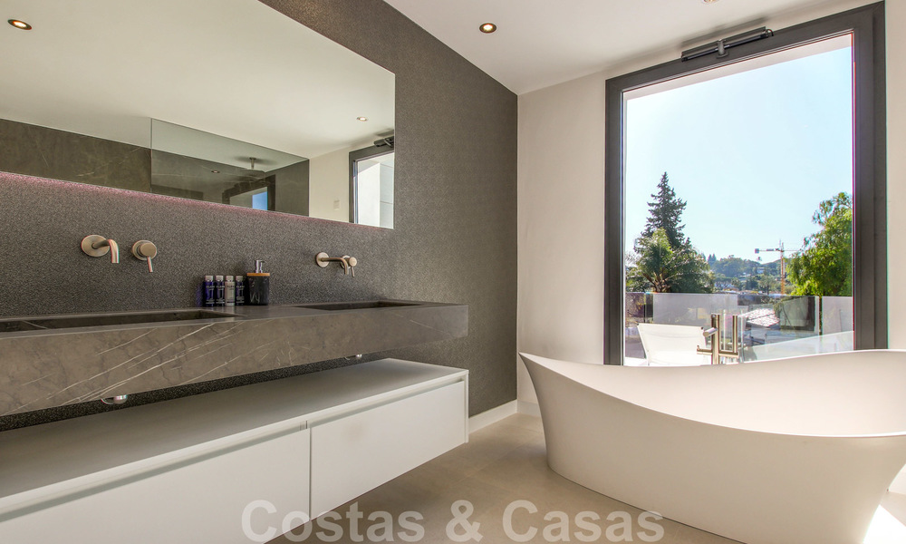 Ready to move into new modern luxury villa in gated and secured residential area for sale in Nueva Andalucia, Marbella. Open to reasonable offers! 23661