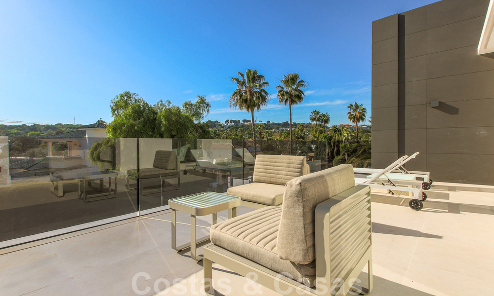 Ready to move into new modern luxury villa in gated and secured residential area for sale in Nueva Andalucia, Marbella. Open to reasonable offers! 23665