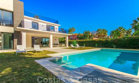 Ready to move into new modern luxury villa in gated and secured residential area for sale in Nueva Andalucia, Marbella. Open to reasonable offers! 23674