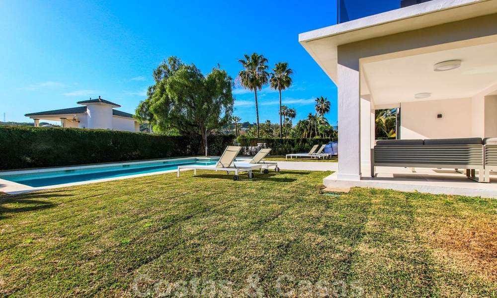 Ready to move into new modern luxury villa in gated and secured residential area for sale in Nueva Andalucia, Marbella. Open to reasonable offers! 23675