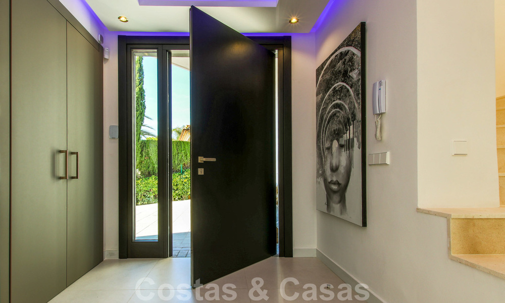 Ready to move into new modern luxury villa in gated and secured residential area for sale in Nueva Andalucia, Marbella. Open to reasonable offers! 23677