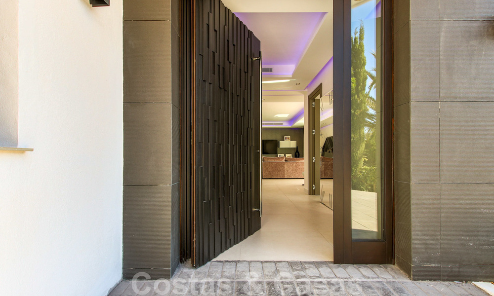 Ready to move into new modern luxury villa in gated and secured residential area for sale in Nueva Andalucia, Marbella. Open to reasonable offers! 23682