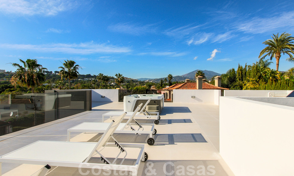 Ready to move into new modern luxury villa in gated and secured residential area for sale in Nueva Andalucia, Marbella. Open to reasonable offers! 23687